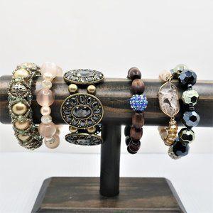Six Stretch Beaded Bracelets